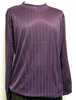 Pronti Mens Purple Shadow Stripe Long Sleeve Mock Neck Shirt 1239