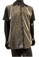Pronti Party Outfit for Men Black Gold Metallic Front SP6393