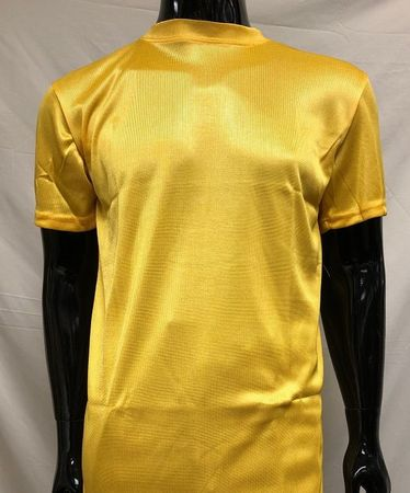 Pronti Shiny Short Sleeve Mock Neck Gold 1564 - click to enlarge