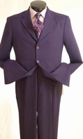 Purple Joker Suit Mens 3 Button Costume Jacket Pants 3PP 802P