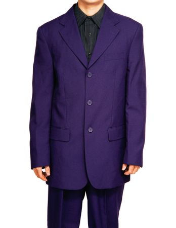 Mens Purple Color Suit by Lucci Button Single Breasted 3PP