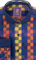Robert Lewis Mens Blue Block Modern Fit Fashion Shirts RL240 Final Sale