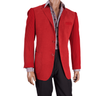 Inserch Mens Red Knit Sleeve Chenille Blazer 506-30 Size Large Final Sale