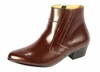 Ditalo Mens Brown Leather Cuban Heel Boots 5631