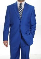 Royal Blue Suit by Milano 2 Button Mens Suit 702P