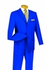 Royal Blue Suits by Lucci 3 Button Mens Suit 3PP big conte