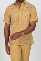 Royal Prestige Mens Gold Embroidered Front Rayon Walking Suit PM-693