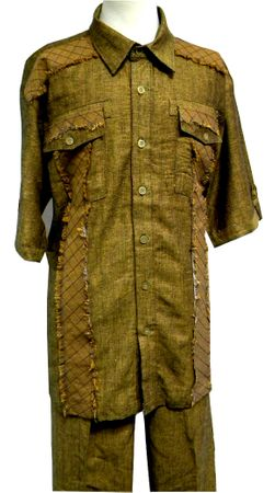 Royal Prestige Mens Rust Irish Linen Walking Suit CPT311 Size L/34, XL/36