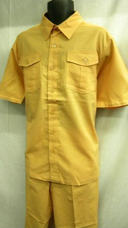 Royalty Culture Mens Peach Linen Cotton Casual Set LC-201 - click to enlarge