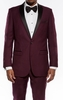 Slim Fit Prom Suit Mens Burgundy 1 Button SA MT187S