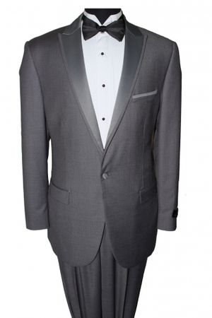 Slim Fit Prom Suit Mens Dark Grey 1 Button SA MT187S