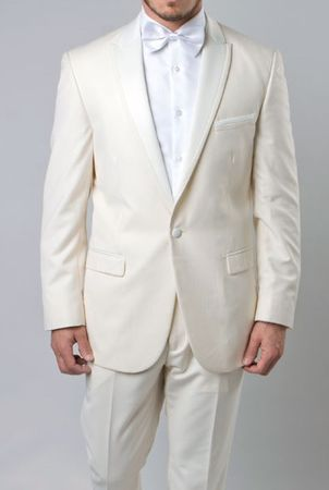 Slim Fit Prom Suit Mens Off White 1 Button SA MT187S
