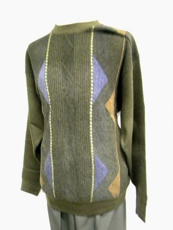 Silversilk Chocolate Chenille Crewneck Sweater 5000 htm - click to enlarge