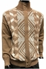 Silversilk Men's Fancy Beige Design Zipper Sweater 3228