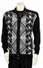 Silversilk Men's Fancy Black Design Zipper Sweater 3228
