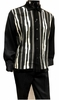 Silversilk Mens Black Sweater Front Walking Suit with Hat 5396