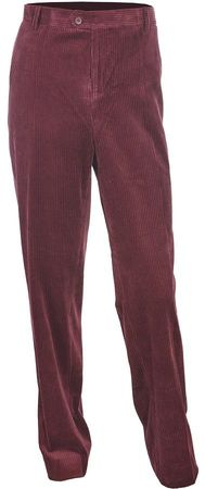Inserch Mens Corduroy Pants Burgundy Flat Front