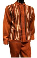 Silversilk Mens Rust Sweater Front Walking Suit with Hat 5396