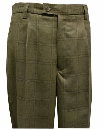 Silversilk Mens Taupe Plaid Wide Leg Dress Pants 590P Size 42W