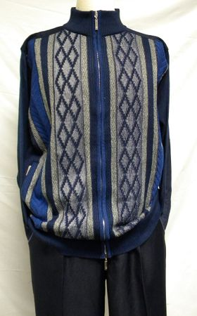 Montique Mens Navy Sweater and Pants Outifit 1510