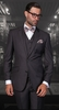 Slim Fit 3 Piece Suit Charcoal Tazio M154S