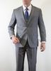 Men's Slim Fit Tight Fitted Style 3 Piece Suit Medium Gray Tazio M154S