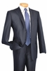 Slim Fit Suits for Men by Vinci Shiny Navy 2 Button Jacket S2RR-1 conte