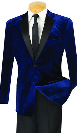 Blue Velvet Slim Fit Tuxedo Men Tux Vinci T-SV