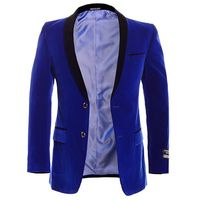 Slim Fit Mens Royal Blue Velvet Blazer Slim Fit Sorento