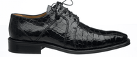 Alligator Shoes Ferrini Men's Black Full Gator 205/528
