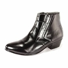 Ditalo Mens Black Leather Cuban Heel Boots 5631