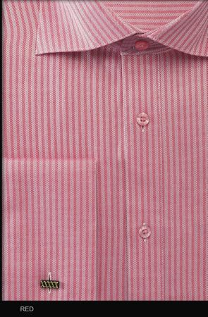 Mens Spread Collar Stripe French Cuff Dress Shirt by Fratello FRV4902