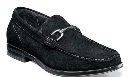 Stacy Adams Black Suede Loafers Newcomb 25139-008 - click to enlarge