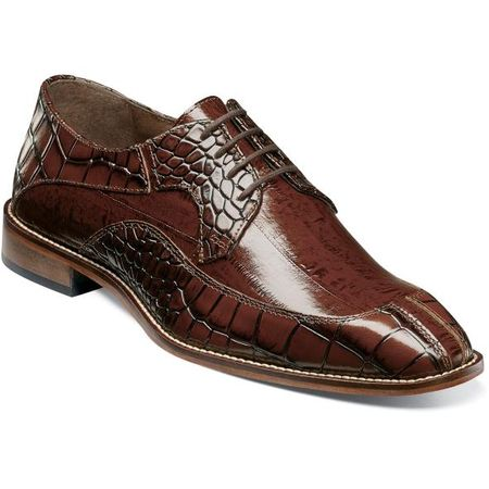 Stacy Adams Dress Shoes Cognac Alligator Split Toe 25318-221 IS