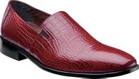 Stacy Adams Mens Red Crocodile Look Loafer Shoe Galindo 24996-600 OS