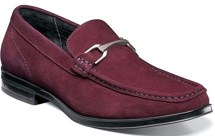 Stacy Adams Burgundy Suede Loafer Newcomb 25139-603
