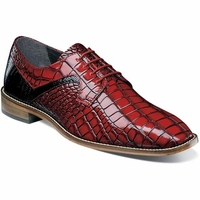 Stacy Adams Red Alligator Texture Dress Shoes 25211-965 OS