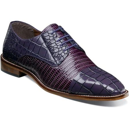 Stacy Adams Shoes Purple Alligator Texture Cap Toe 25321-500 IS