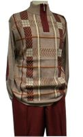 Stacy Adams Mens Red Fancy Sweater and Pants Set 8330