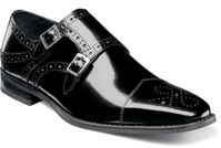 Stacy Adams Black Double Monk Strap Shoes 25194-001