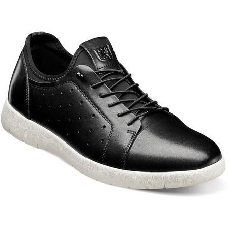 Stacy Adams Black Leather Casual Fashion Sneaker 25382-001