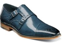 Stacy Adams Blue Double Monk Strap Shoes 25194-400