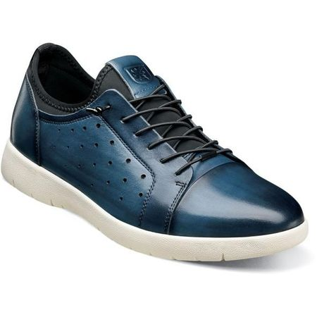 Stacy Adams Blue Leather Casual Fashion Sneaker 25382-400 - click to enlarge