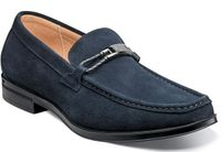 Stacy Adams Blue Suede Loafers Moc Toe Neville 25224-415