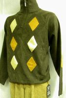 Stacy Adams Brown Beige Suede Patch Sweater SA102 IS