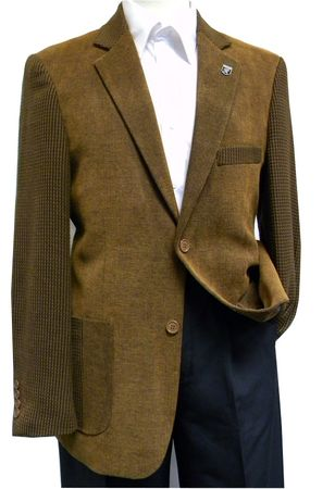 Stacy Adams Brown Corduroy Multi Fabric Blazer