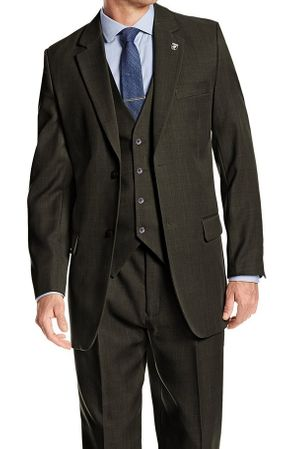 Stacy Adams Mens Hunter Green Suny Vested Fashion Suit 4016-063 OS