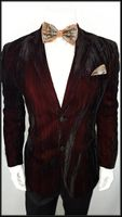 Stacy Adams Burgundy Streaked Velvet Jacket Coopsc 5700-050 IS