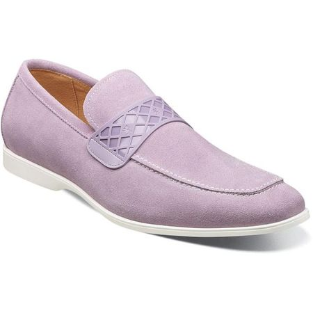 Stacy Adams Casual Lavender Suede Loafer Strap 25276-530 - click to enlarge
