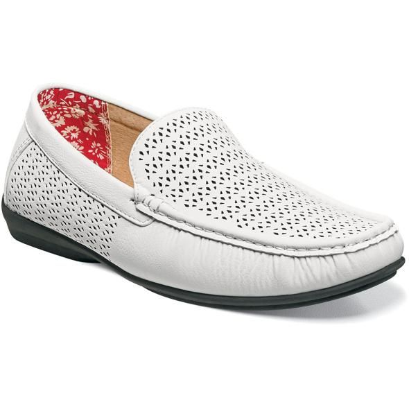 8498ba4f80 Stacy Adams Casual Slip On Shoes White Cicero 25172-100 IS